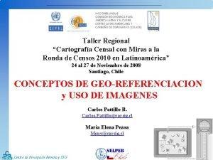 Taller Regional Cartografa Censal con Miras a la