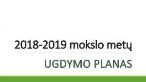2018 2019 mokslo met UGDYMO PLANAS 5 15