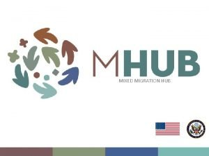 MIXED MIGRATION HUB The Mixed Migration Hub MHub