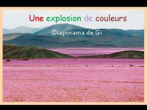 Une explosion de couleurs Diaporama de Gi Dcouvrez