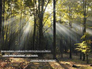 Sprawozdanie z realizacji PROJEKTU EKOLOGICZNEGO Lider lokalnej ekologii