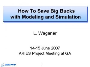 How To Save Big Bucks with Modeling and