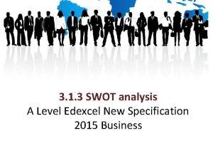 3 1 3 SWOT analysis A Level Edexcel