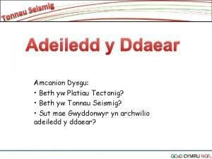 Adeiledd y Ddaear Amcanion Dysgu Beth yw Platiau