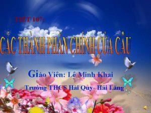 TIT 107 Gio Vin L Minh Khai Trng