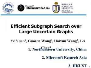 Efficient Subgraph Search over Large Uncertain Graphs Ye