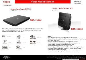 Canon Flatbed Scanners Canon Cano Scan Li DE