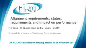 Alignment requirements status requirements and impact on performance