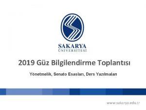 2019 Gz Bilgilendirme Toplants Ynetmelik Senato Esaslar Ders