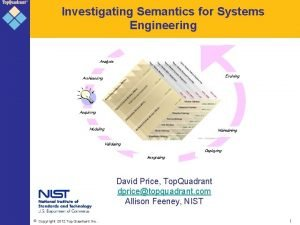 Investigating Semantics for Systems Engineering Analysis Evolving Architecting