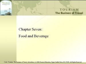 Chapter Seven Food and Beverage Cook Tourism The