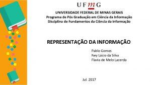 UNIVERSIDADE FEDERAL DE MINAS GERAIS Programa de Ps