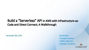 Build a Serverless API in AWS with Infrastructureas