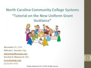 North Carolina Community College Systems Tutorial on the