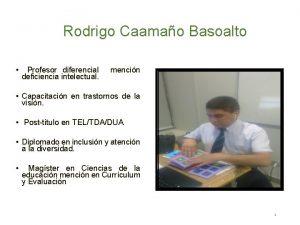 Rodrigo Caamao Basoalto Profesor diferencial deficiencia intelectual mencin