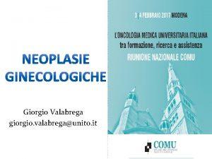 Giorgio Valabrega giorgio valabregaunito it Premesse 1 La
