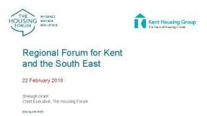 Regional Forum for Kent and the South East