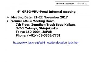 Informal Document ACSF04 01 4 th GRSGVRUProxi Informal