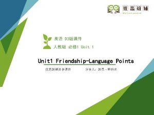 CONTENTS 01 Language Points 02 Language points 1