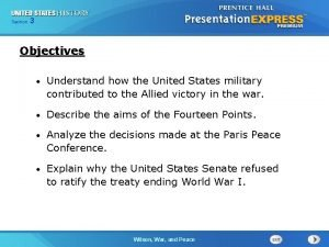 325 Section Chapter Section 1 Objectives Understand how