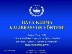 HAVA KERMA KALBRASYON YNTEM Doan Yaar Ph D