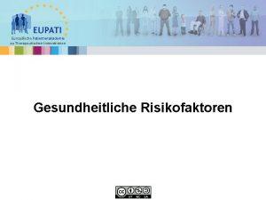 Europische Patientenakademie zu Therapeutischen Innovationen Gesundheitliche Risikofaktoren bersicht