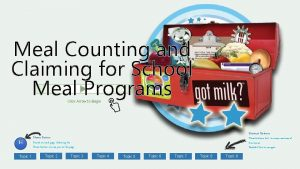 Meal Counting and Claiming for School Meal Programs