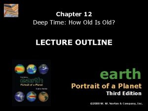 Chapter 12 Deep Time How Old Is Old