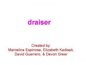 Fundraiser Created by Marcelina Espinosa Elizabeth Kadisak David