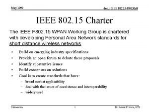 May 1999 doc IEEE 802 15 99036 r