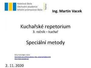 Ing Martin Vacek Kuchask repetorium 3 ronk kucha