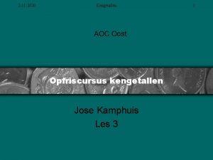 2 11 2020 Kengetallen AOC Oost Opfriscursus kengetallen