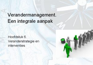 Verandermanagement Een integrale aanpak Hoofdstuk 6 Veranderstrategie en