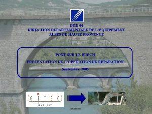 DDE 04 DIRECTION DEPARTEMENTALE DE LEQUIPEMENT ALPES DE