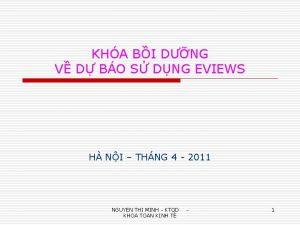 KHA BI DNG V D BO S DNG