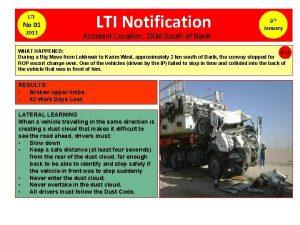 LTI No 01 2011 LTI Notification 9 Th