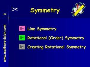 www mathsrevision com S 4 Symmetry Line Symmetry