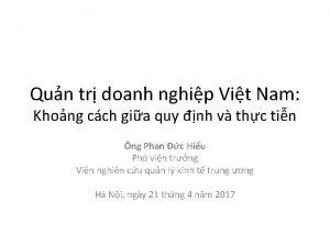Qun tr doanh nghip Vit Nam Khong cch