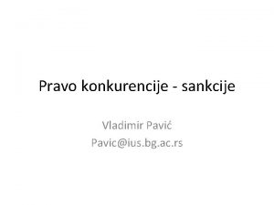 Pravo konkurencije sankcije Vladimir Pavi Pavicius bg ac