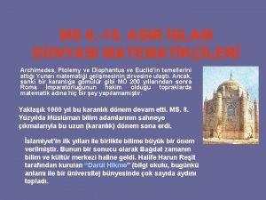 MS 8 15 ASIR SLAM DNYASI MATEMATKLER Archimedes