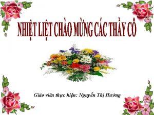 Gio vin thc hin Nguyn Th Hng Kim