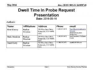 May 2016 doc IEEE 802 11 160587 r