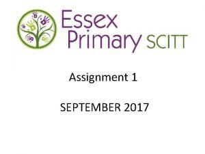 Assignment 1 SEPTEMBER 2017 ASSIGNMENT 1 A case