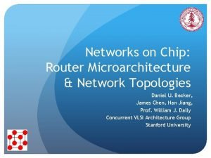 Networks on Chip Router Microarchitecture Network Topologies Daniel