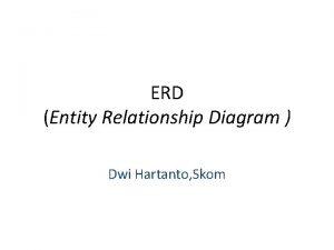 ERD Entity Relationship Diagram Dwi Hartanto Skom Pengertian