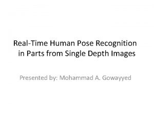 RealTime Human Pose Recognition in Parts from Single