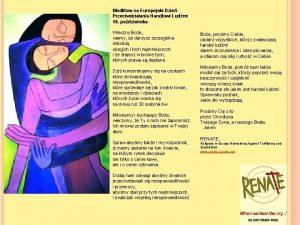 Modlitwa na Europejski Dzie Przeciwdziaania Handlowi Ludmi 18