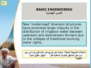 Wadi channel training Irrigation Canal Modern structure and