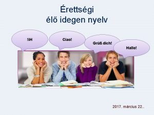 rettsgi l idegen nyelv i H Ciao Gr