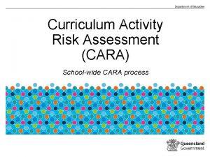 Curriculum Activity Risk Assessment CARA Schoolwide CARA process